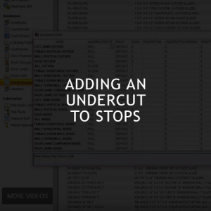 Adding an Undercut to Stops